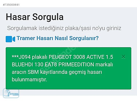 PEUGEOT AKTİF-İRİYIL 3008 PRİME EDİTİON 1.5 BLUEHDİ...