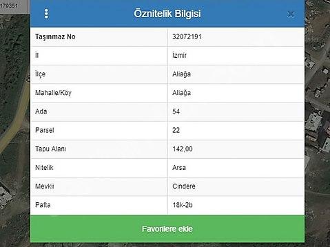 Bülent ATEŞCİ'den Cindere Bölgesinde Arsa Ada:54...
