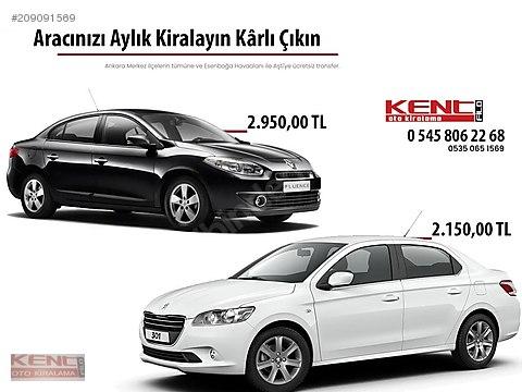 KENT FİLO RENT A CAR DAN OTOMATİK FLUENCE
