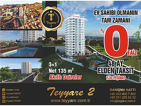 TEYYARE 2 SİTESİNDE EFSANE SATILIK DAİRELER!!!