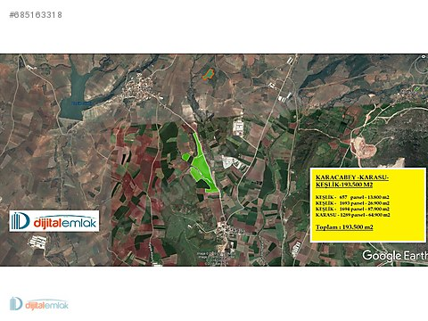Karacabey'de Asfalta cephe 193.500 m2 Çiftlik Yapmaya...