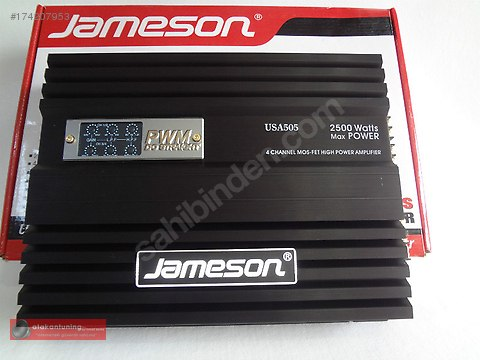 Jameson USA- 505 4 Kanallı 2500 Watt Oto Amfi #174207953
