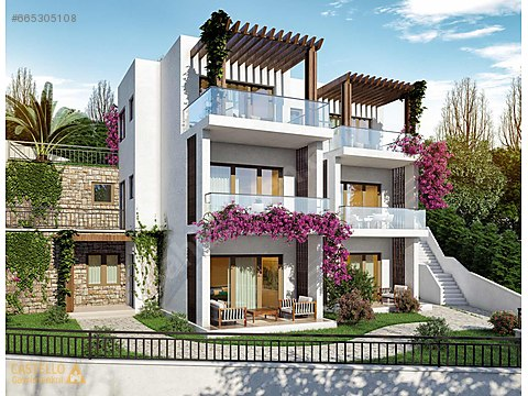Gündoğan Koyunda Satılık Deniz Manzaralı Villa