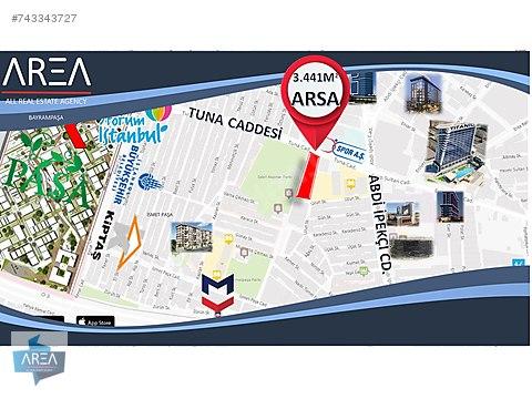 BAYRAMPAŞA TUNA CD. 3.441 M² ARSA (1.450 M² BİNA...