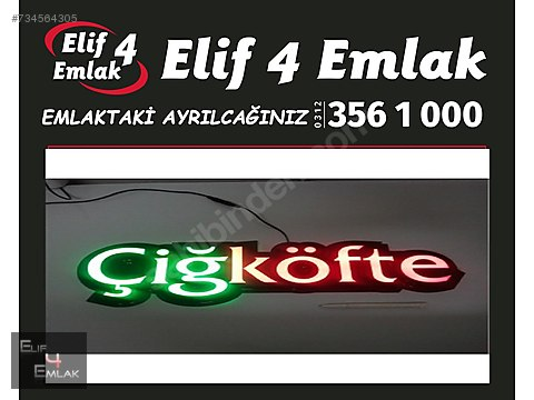 ELİF 4'TEN TEPEBAŞINDA 70M2 ANA CADDE ÜZERİ ÇİĞ...
