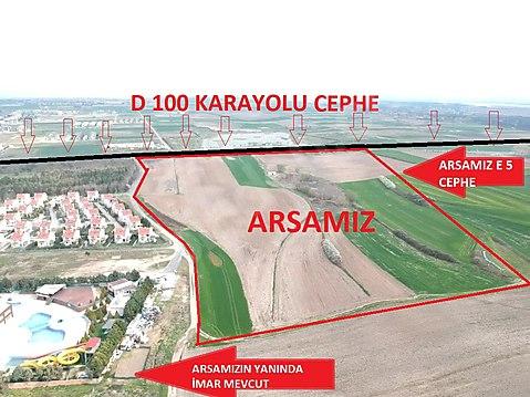 E5 e CEPHE İMAR YANIBAŞINDA ARSA KOMİSYON YOK !!!