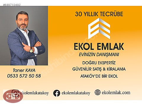 EKOL EMLAK _DAN ATAKÖY KONAKLARINDA 3+1
