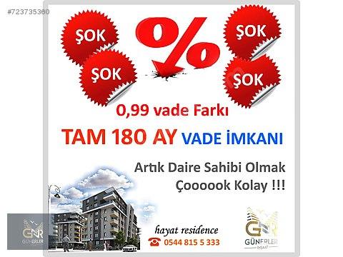 0.99 VADE FARKI 180 AY VADELİ ULTRA LUX DAİRE