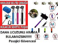 Monopod Selfie Çubuğu Kablolu - 3,5 mm