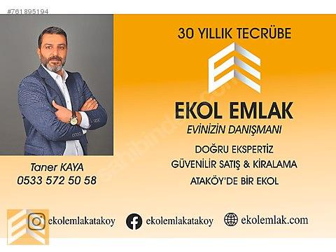EKOL_DEN ATAKÖY KONAKLARINDA BOŞ TESLİM 3+1 UYGUN...