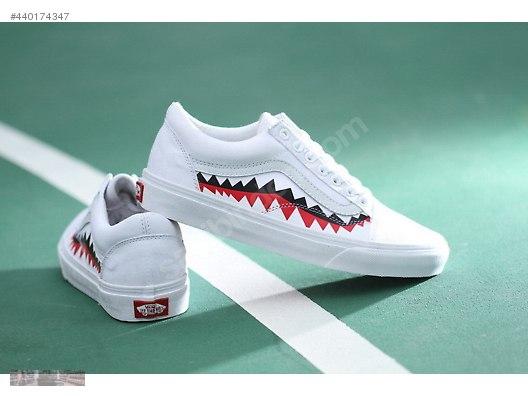 Buy vans x bape sharktooth - 50% OFF