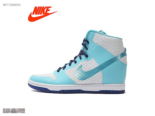premium selection a14f4 1ba8b NIKE WOMENS DUNK SKY HIGH SKY BLUE INNER WEDGE SHOES 725069 104  577398053