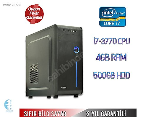 b704114a05397 İNTEL CORE İ7-3770 CPU 4GB RAM 500GB HDD MASAÜSTÜ BİLGİSAYAR #665472773