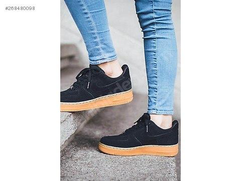 Nike Air Force 1 Low Black Suede Gum