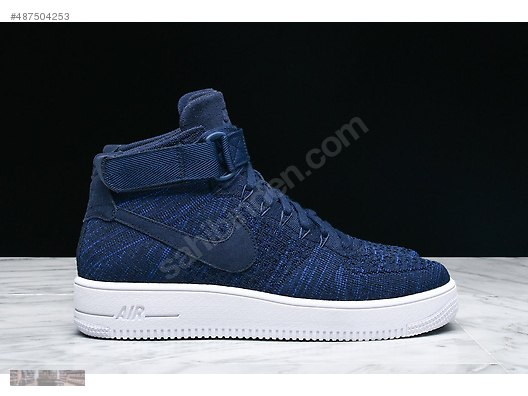 93f8bf1d003b NIKE AIR FORCE ONE 1 ULTRA FLYKNIT MID COLLEGE NAVY 817420 401  487504253