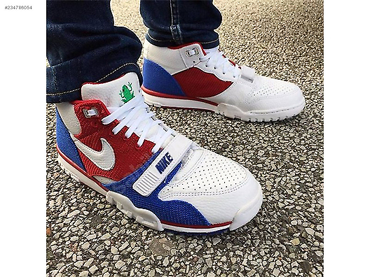 bd3ffe358910 NIKE AIR TRAINER 1 MID PRM WHITE GYM RED GAME ROYAL PUERTO RICO  234786054